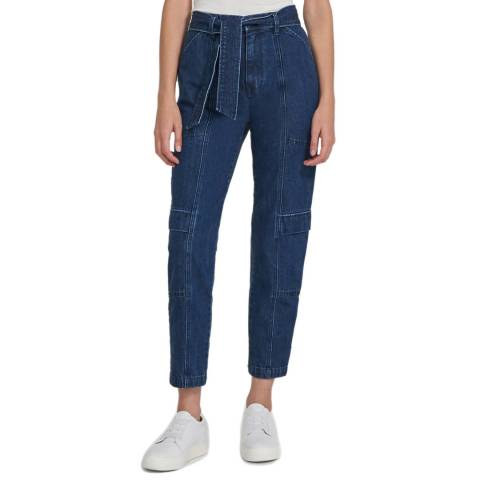 J Brand Blue Athena Tapered Surplus Trousers