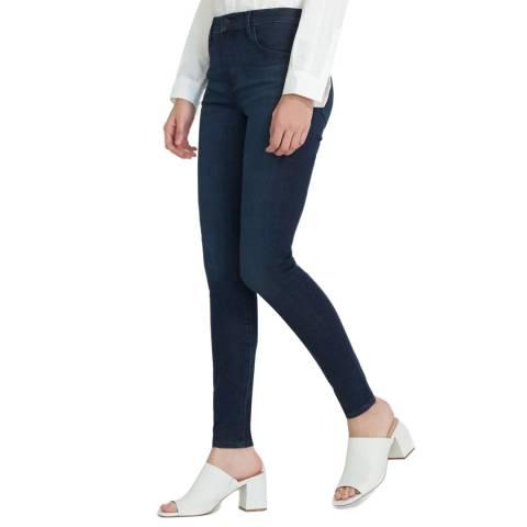 J Brand Dark Denim Maria High Rise Skinny Jeans
