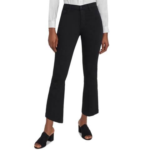 J Brand Black Franky Cropped Stretch Jeans