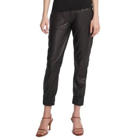 J Brand Black Arkin Zip Leather Pants