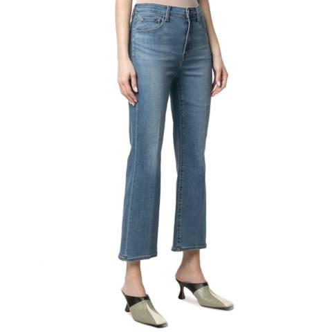 J Brand Blue Franky Cropped Stretch Jeans