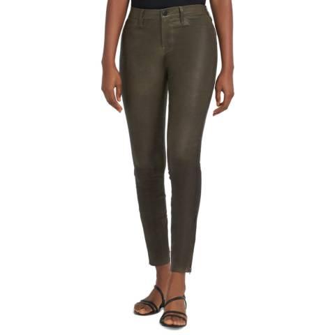 J Brand Khaki L8001 Leather Pants