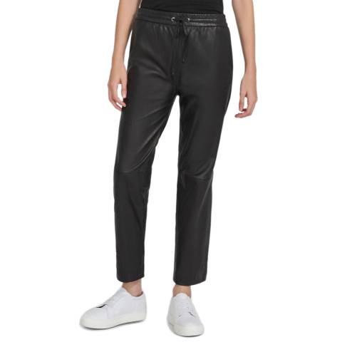 J Brand Black Amari Leather Pants