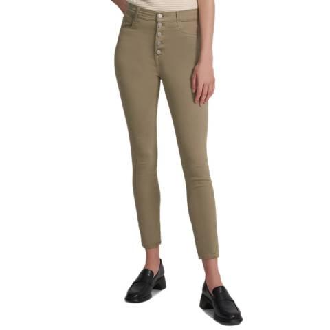 J Brand Khaki Lillie Button Skinny Stretch Jeans