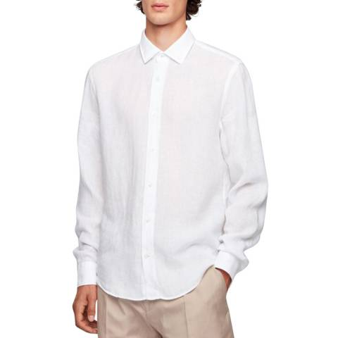 BOSS White Joy Linen Shirt