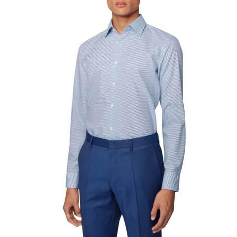 BOSS Blue Micro Geo Jango Cotton Shirt