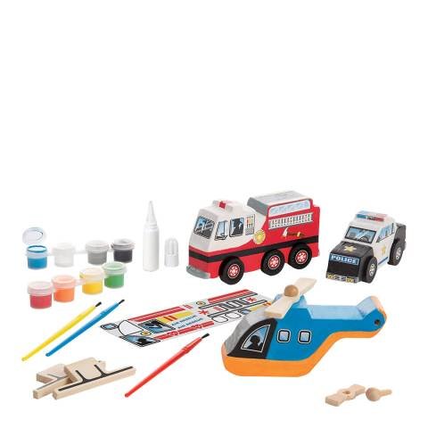 Melissa and Doug Wooden Rescue Vehicles Set