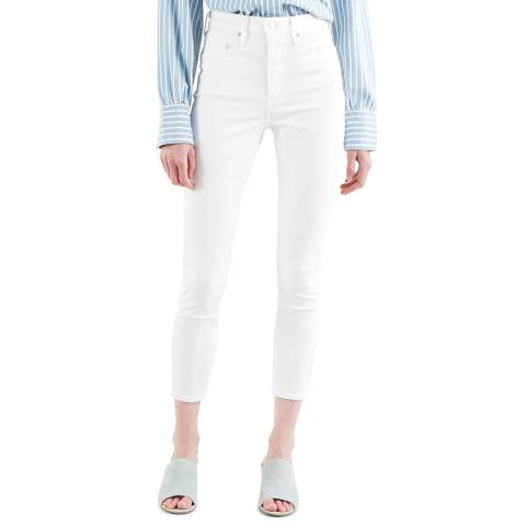 Levi's White Mile High Skinny Stretch Jeans