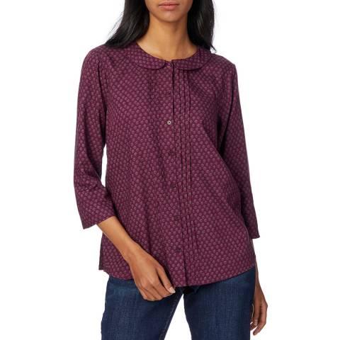 White Stuff Purple Cotton Helena Shirt