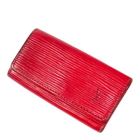 Louis Vuitton Red 4 Key Holder