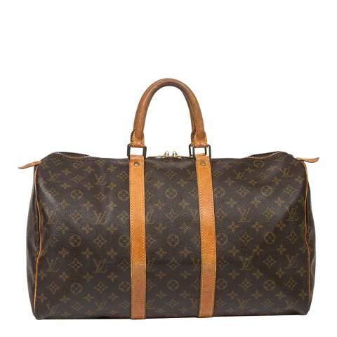 Louis Vuitton Brown Keepall Travel Bag 45
