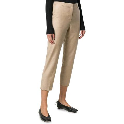 Theory Beige Tailored Wool Trousers