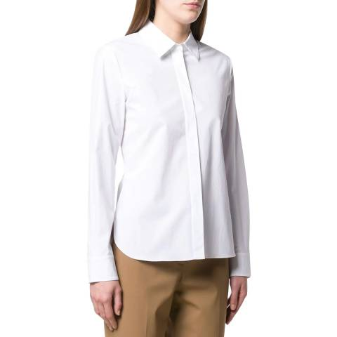 Theory White Classic Fitted Shirt