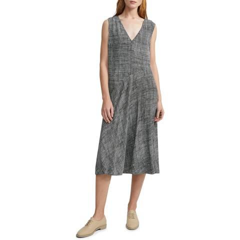 Theory Black Silk Midi Length Dress