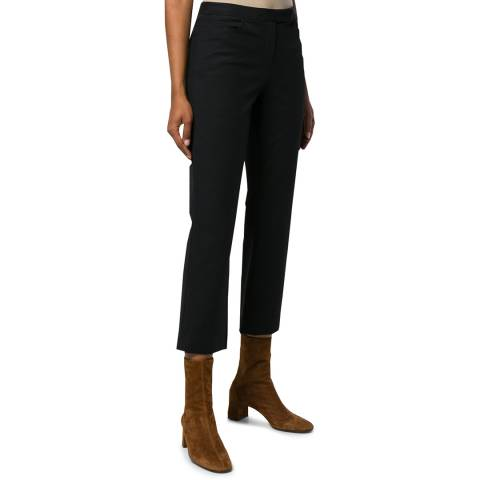 Theory Black Cropped Trousers