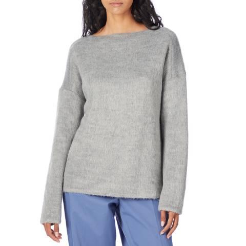 Theory Grey Wool Blend Jumper