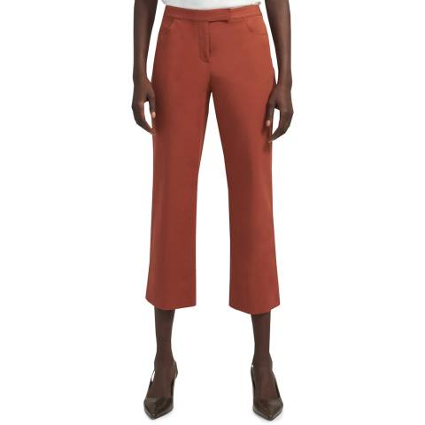 Theory Red Cropped Trousers