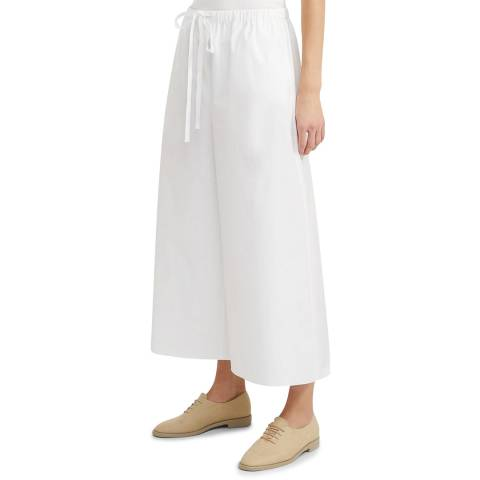 Theory White Fluid Wide Leg Pull On Pants
