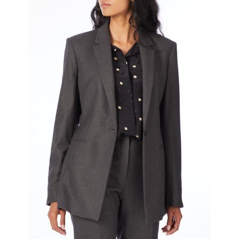Theory Grey Power Wool Blend Jacket