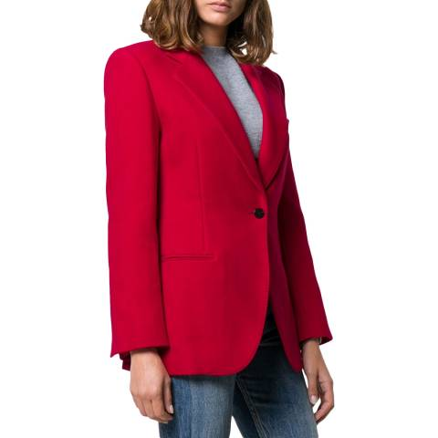 Theory Red Cinched Blazer