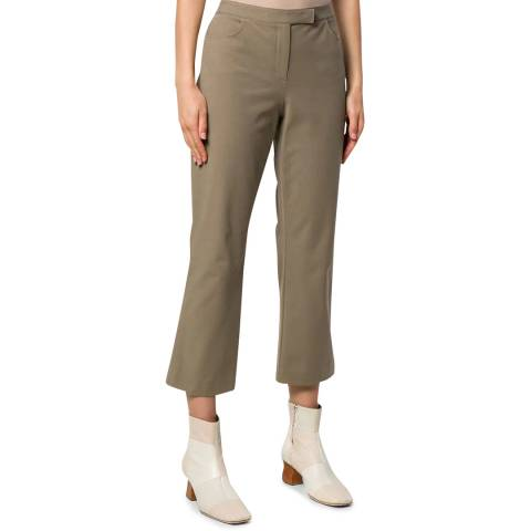 Theory Green Cropped Trousers