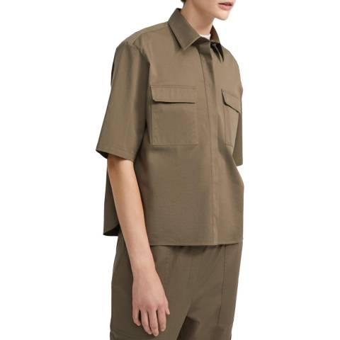 Theory Green Stretch Chino Shirt