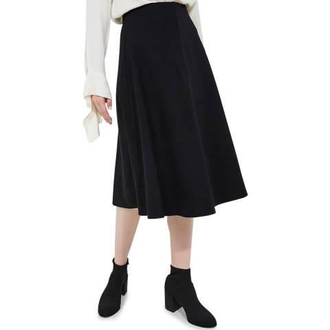 Theory Black Midi Circle Skirt