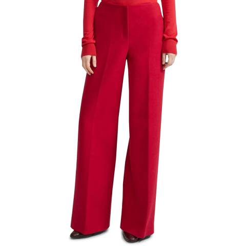 Theory Red Cotton Moleskin Trousers