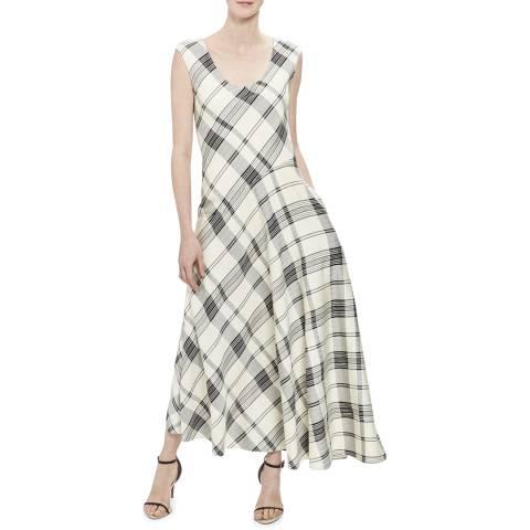 Theory White Silk Blend Asymmetric Tango Dress