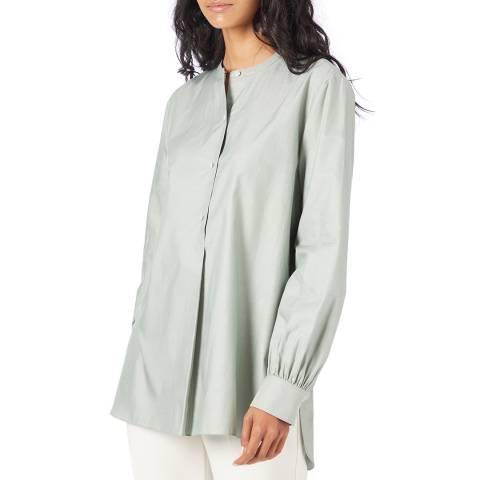 Theory Green Cotton Tunic Shirt