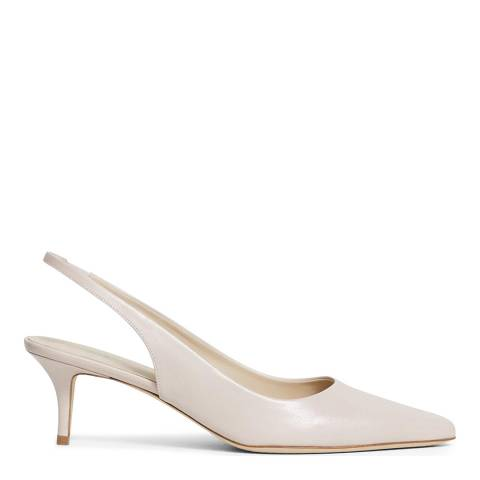 Theory Pink Leather City Slingback Pumps