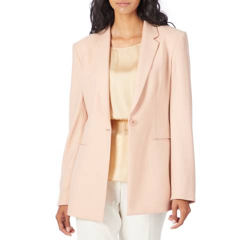 Theory Pink Power Wool Blend Jacket