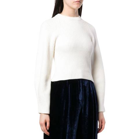 Theory White Wool Jumper