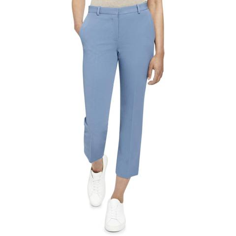 Theory Light Blue Tailored Cropped Trousers