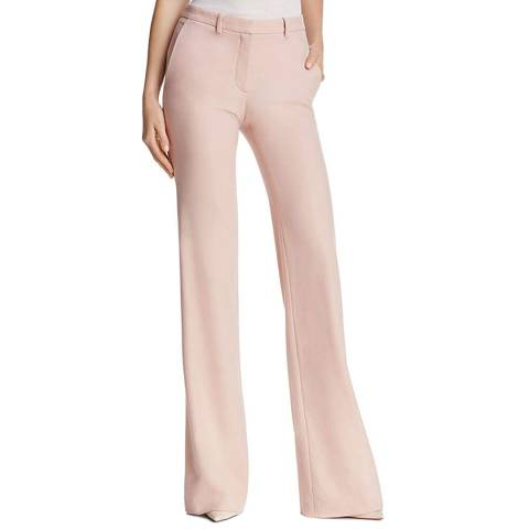 Theory Pink Demitria 2 Flared Trousers