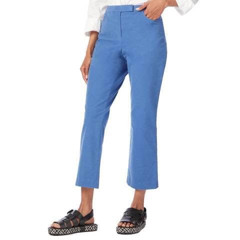 Theory Blue Cropped Moleskin Trousers