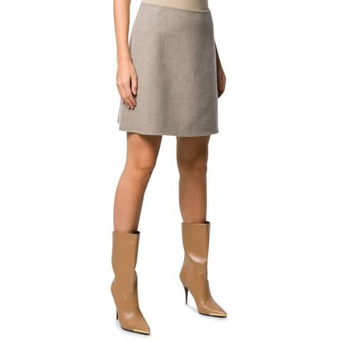 Theory Grey Paneled Cashmere Blend A-Line Skirt