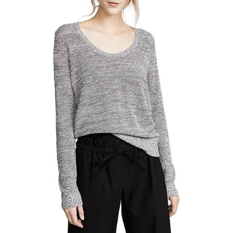 Theory Silver Scoop Neck Metalic Top