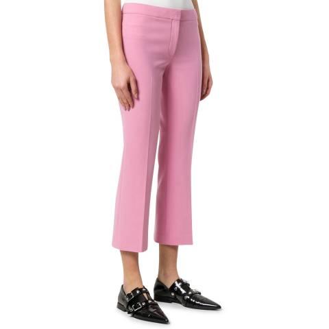 Theory Pink Cropped Kick Trousers