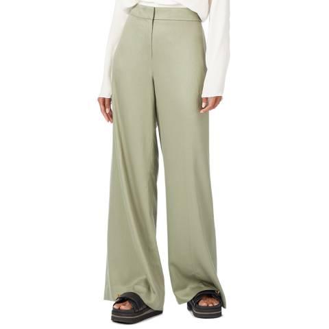 Theory Green Fluid Drape Trousers
