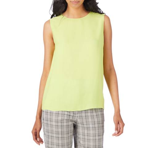 Theory Green Continuous Shell Silk Top