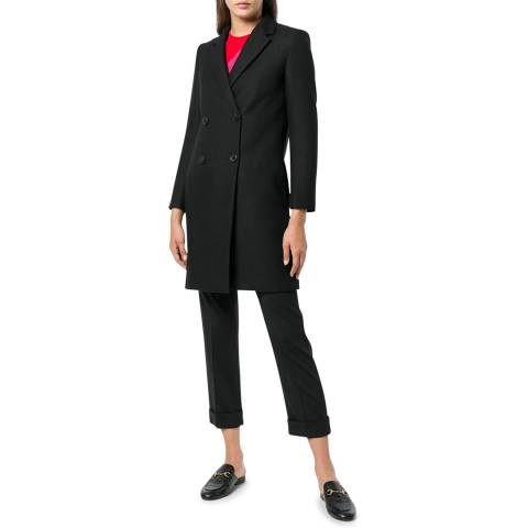 Theory Black Double Breasted Square Coat