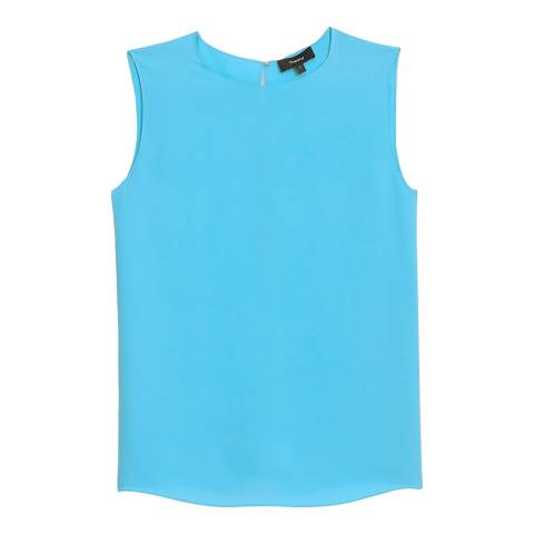 Theory Blue Continuous Shell Top