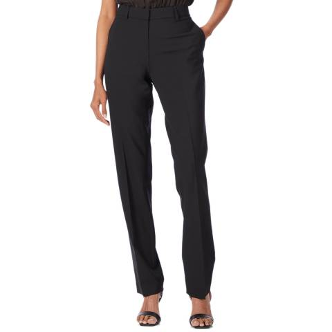 Theory Black Super Slim Wool Blend Trousers