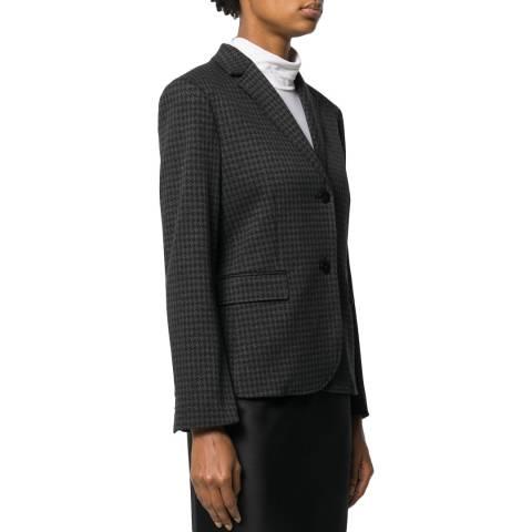 Theory Grey Classic Houndstooth Shrunken Jacket