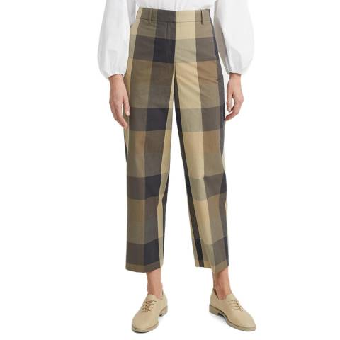 Theory Multi Silk Blend Straight Trousers