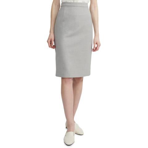 Theory Grey Hemdall Wool Blend Skirt