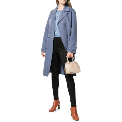 Theory Blue Militry Trench Coat