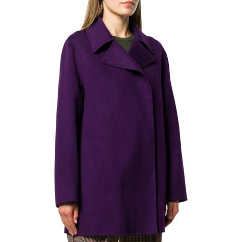 Theory Plum Overlay Double Faced Coat