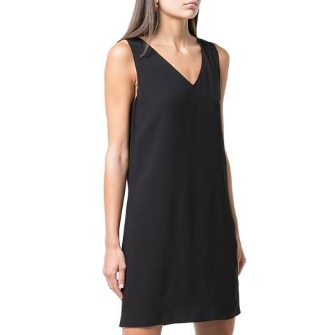 Theory Black V Neck Shift Dress
